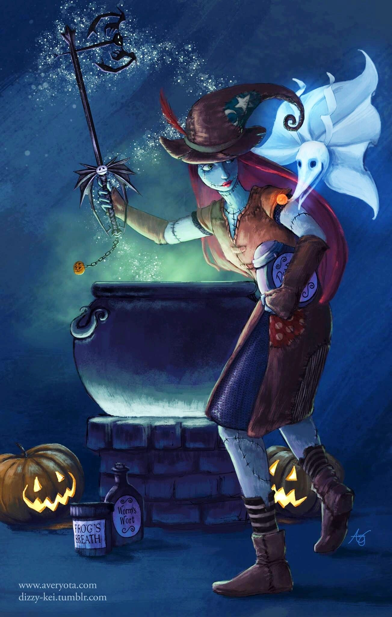 Sally [feat. Zero & Jack in Kingdom Hearts] (Drawing by Dizzy-Kei ...