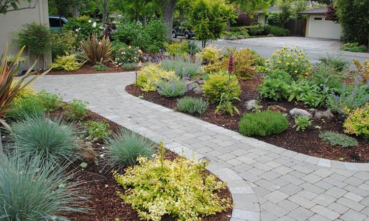 Front yard no lawn garden 0180 landscaping pinterest for Garden designs without grass