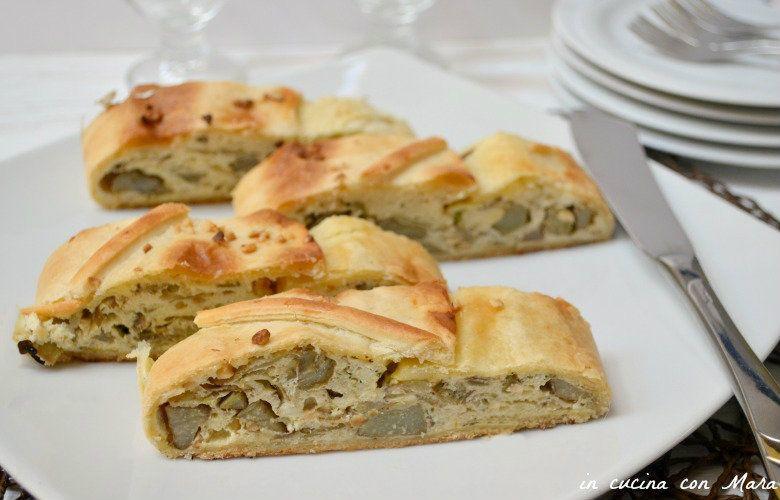 Lo strudel di carciofi ricotta e nocciole è ideale per consumare questo delizioso ortaggio in modo originale. E' uno sfizioso antipasto o anche secondo.