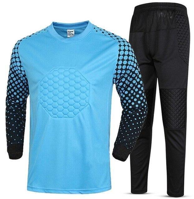 0f4ff63d2 Kids Youth Soccer Sets Training Pants Rugby Goalkeeper Jerseys Survetement  Football Goal Keeper