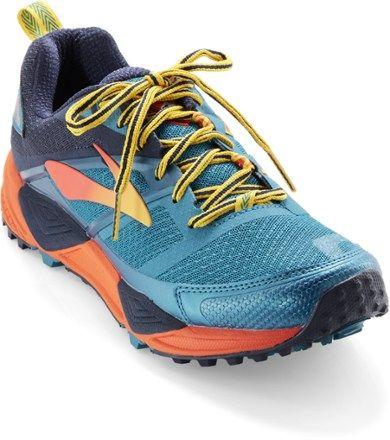 3d73b2402f25b Brooks Men s Cascadia 12 Yellowstone National Park Trail-Running Shoes Navy  Blue 11.5