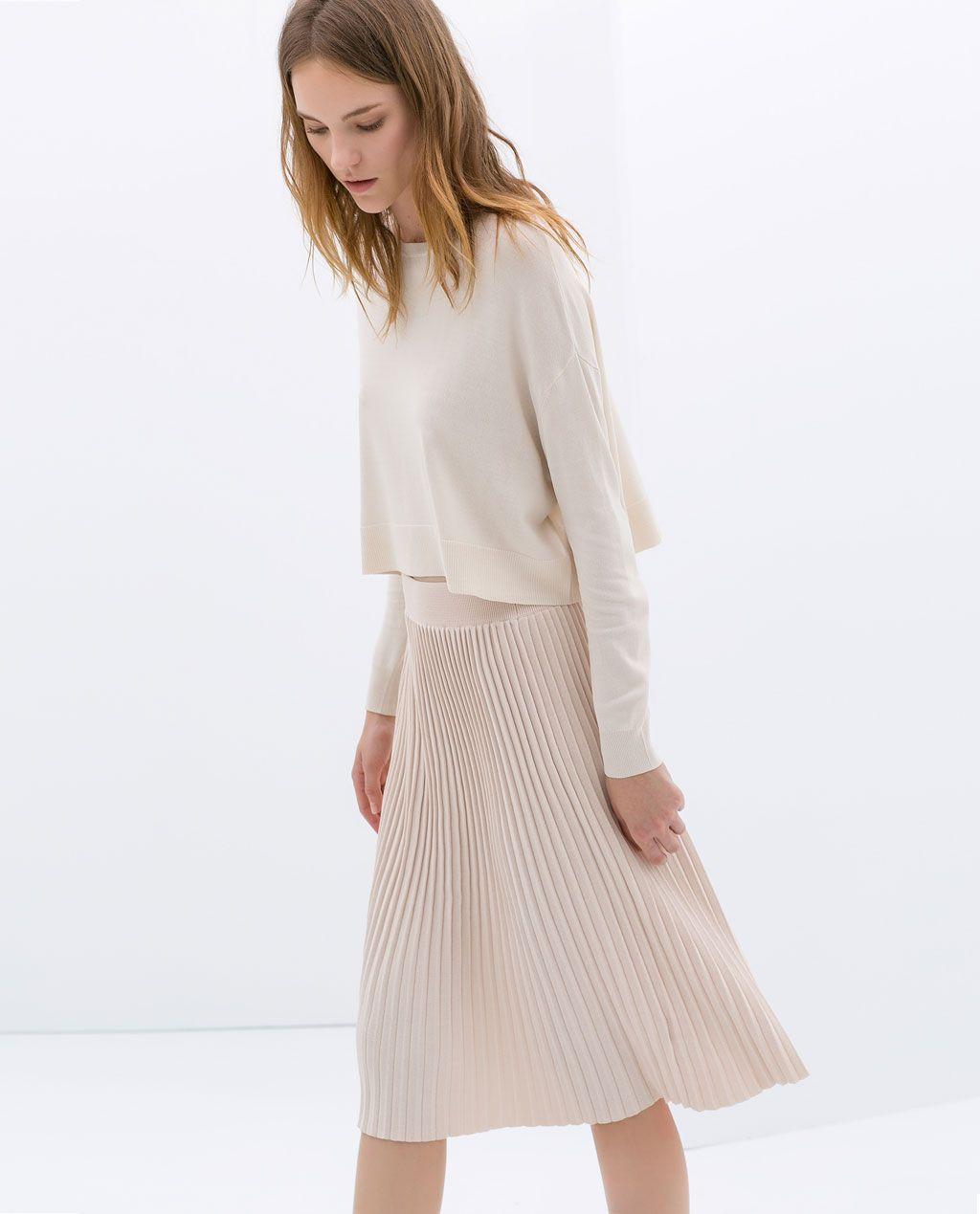 0d29977ed KNEE - LENGTH FINE PLEAT SKIRT - Skirts - WOMAN | ZARA Czech Republic