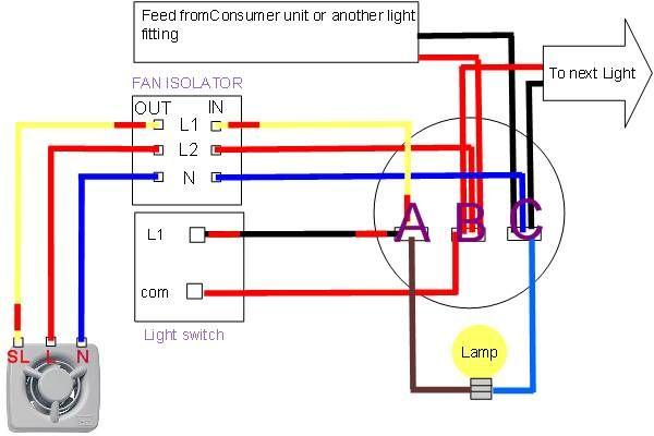 extractor fan wiring diagram  bathroom extractor fan
