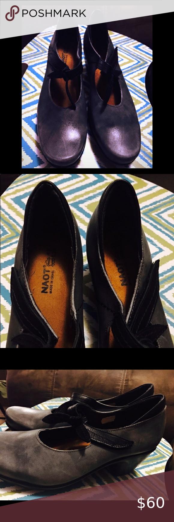 Naot  Grey/Charcoal Heeled Shoe Naot Grey/Charcoal
