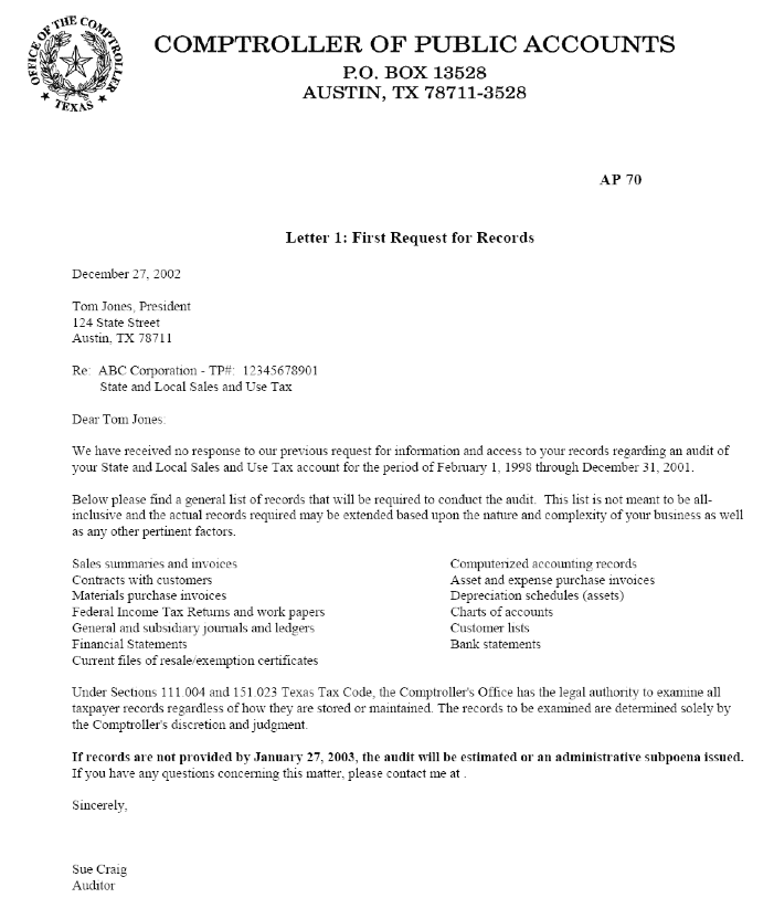 Resale Certificate Request Letter Template 1
