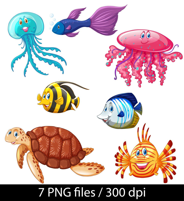 Fish Baby Clipart Sea Animals Clipart Kids Clipart Baby Shower Invitation Clipart Baby Fish Sea Creatures Animal Clipart Animal Illustration Sea Animals