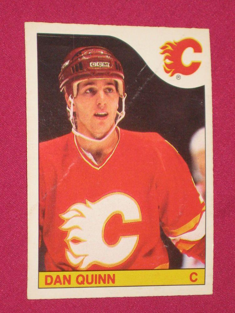 1985 86 176 Dan Quinn O Pee Chee Opc Calgary Flames Nhl Hockey Card Ebay Hockey Cards Calgary Flames Nhl Hockey