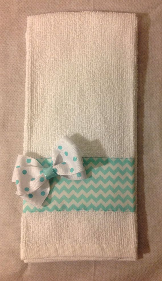 Kitchen/ Bathroom towel with fabric accents by MajorInnovations