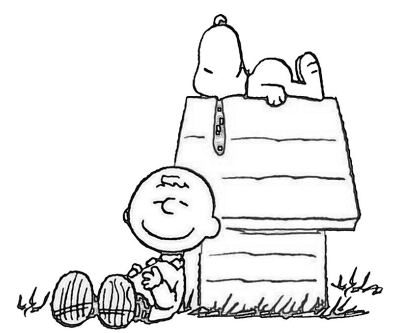 Thanksgiving Coloring Pages Printables Charlie brown Snoopy