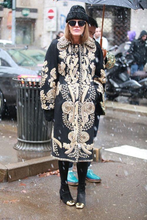 Anna Dello Russo during Milan Fashion Week, Fall 2013