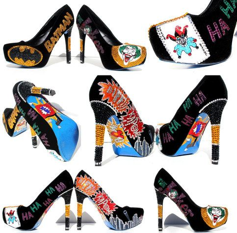 8739c7c38 Joker Heels with Swarovski Crystals and Glitter sold by Wicked Addiction.  Shop more products from Wicked Addiction on Storenvy, the home of  independent ...