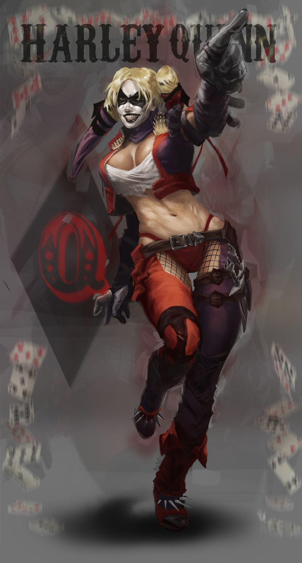 Here a Harley Quinn fanart that I did a while ago. Done entirely in Photoshop CC, without any refer