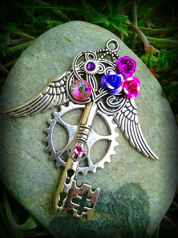 The Crystal Rose Fantasy Key by ArtbyStarlaMoore on Etsy, $17.00