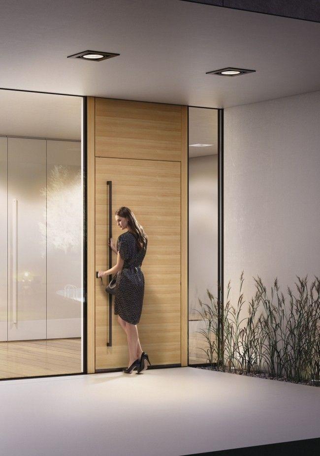 Moderne innentüren eiche josko  nevos haustür josko hersteller lärche natürliche holz optik modern ...