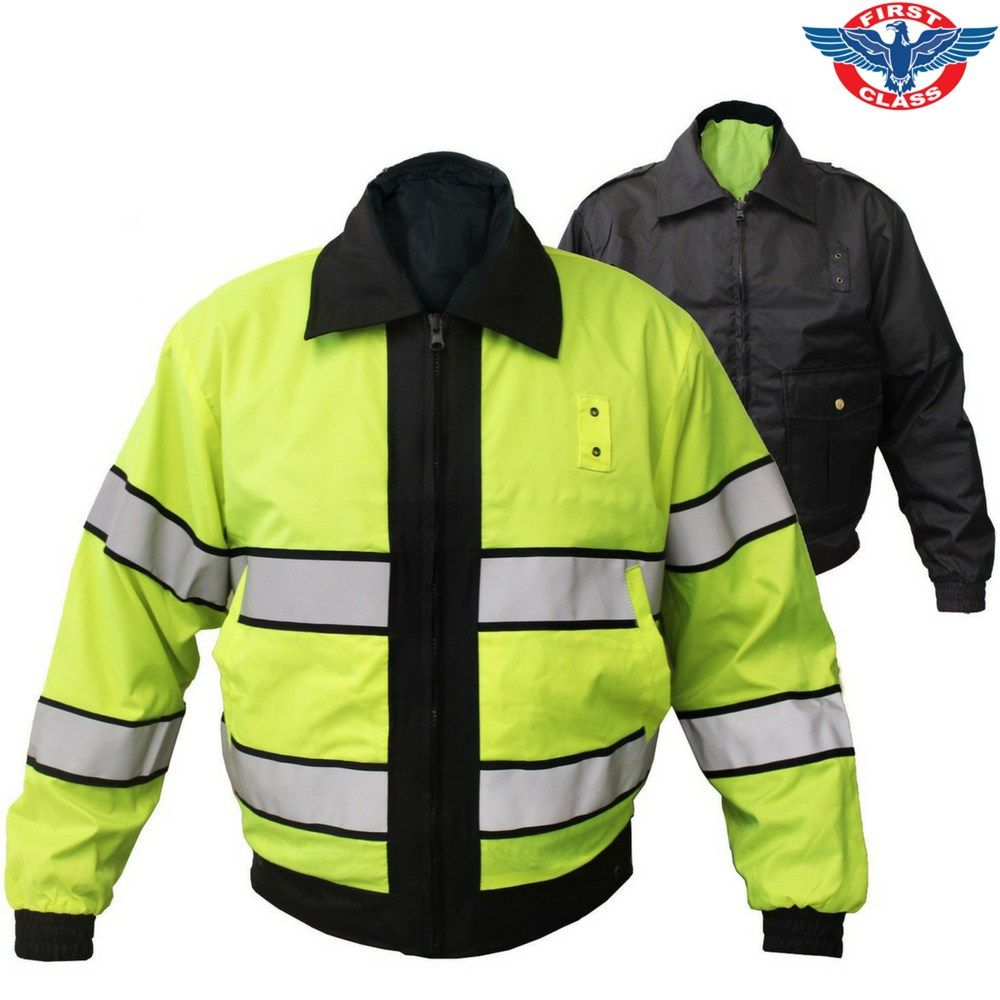 First class high visibility reversible jacket west coast