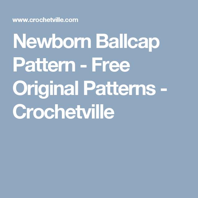 Newborn Ballcap Pattern Free Original Patterns Crochetville