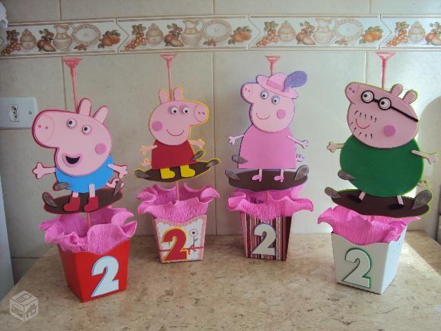 Enfeites para mesas peppa pig