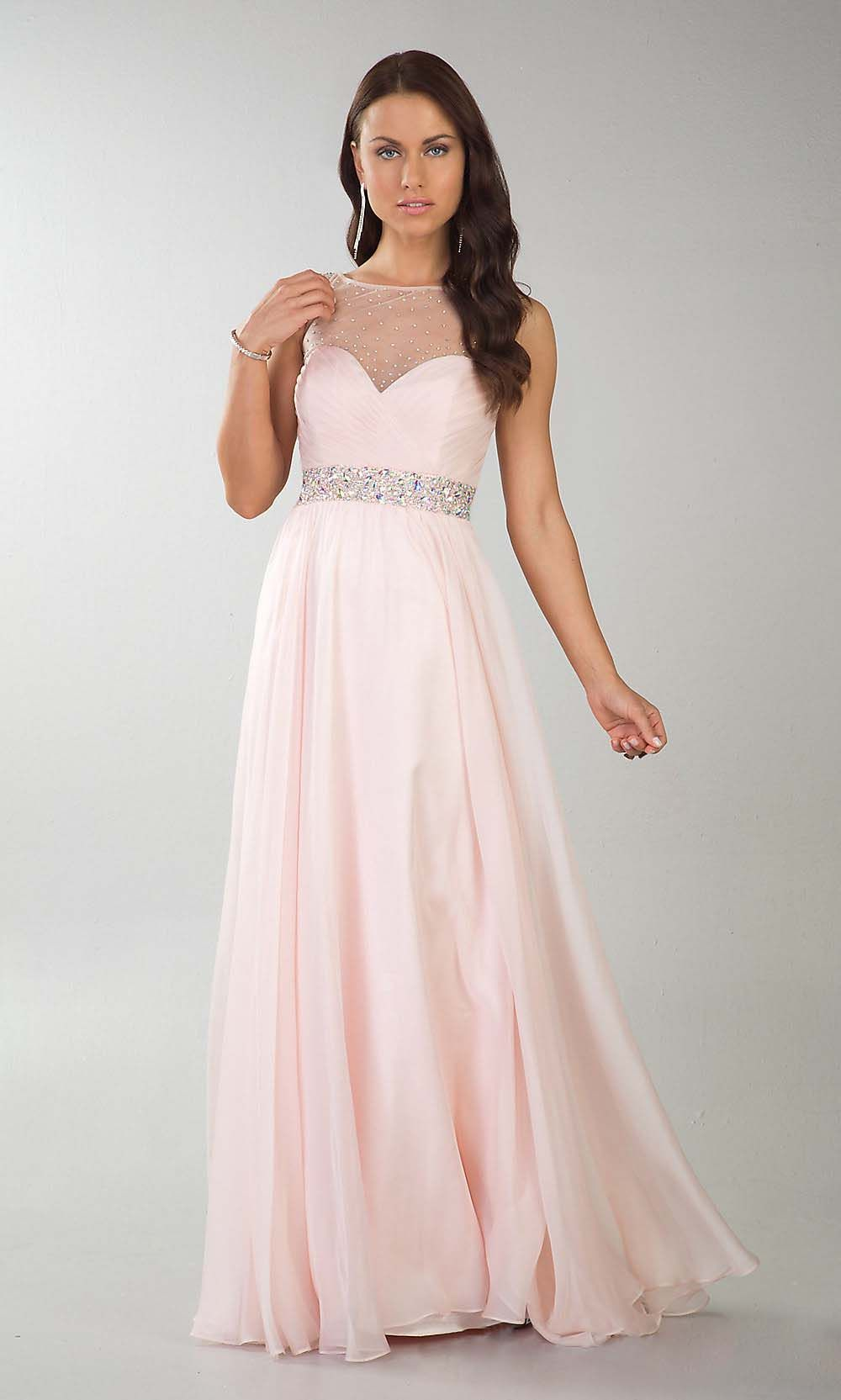 blush pink prom dress, elegant prom dress, cheap prom dresses, off ...