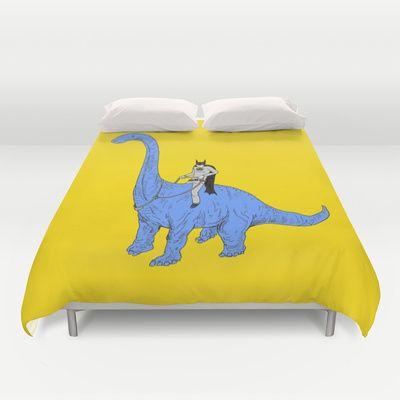 Dinosaur B Duvet Cover by Joe Carr - $99.00