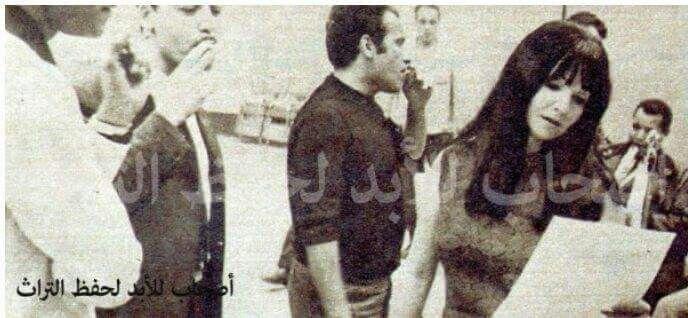 شادية وبليغ حمدي في تسجيل اغنيات المسلسل الاذاعي نحن لا نزرع الشوك 1969 Photo Art Painting