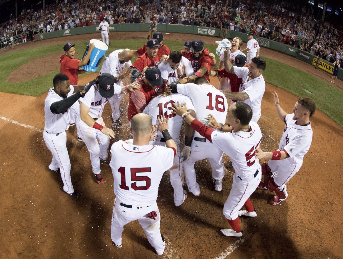 Celebrating Hanley S 15th Inning Home Run Red Sox Baseball Red Sox Nation Red Sox
