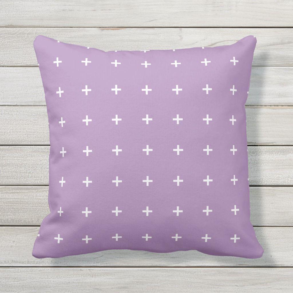 Purple Outdoor Pillows Cross Pattern Zazzle Com Outdoor
