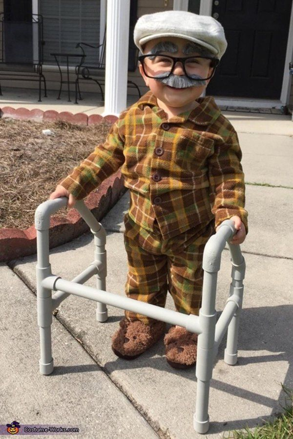 Just 20 Photos Of Kids Dressed As Old People 'Cause It's Ridiculously Cute #toddlerhalloween