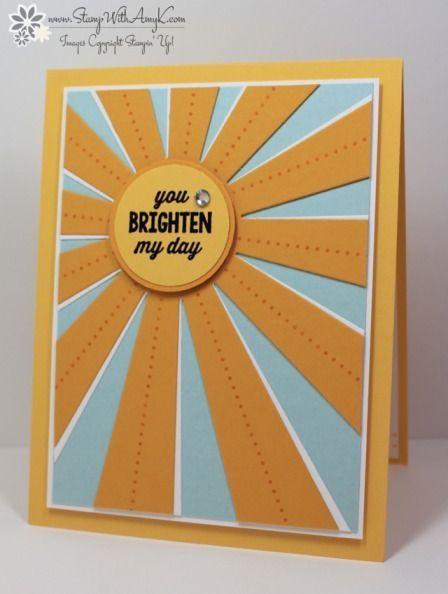 Stampin' Up! Sunburst Sayings Bright Card