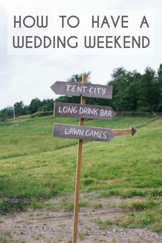 Elizabeth from Lowe House Events is back for her final advice post: How to Have a Wedding Weekend