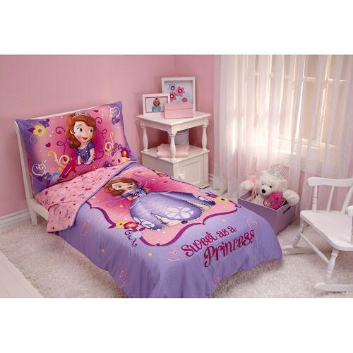 Disney Sofia the First 4-piece Toddler Bedding Set, Purple Toddler