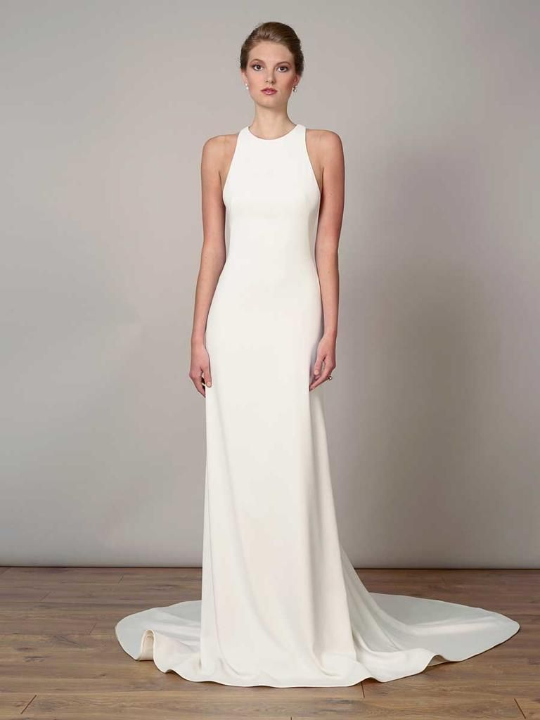 Ideas Advice By The Knot Wedding Dress Necklines Wedding Dress Low Back Plain Wedding Dress [ 1024 x 768 Pixel ]