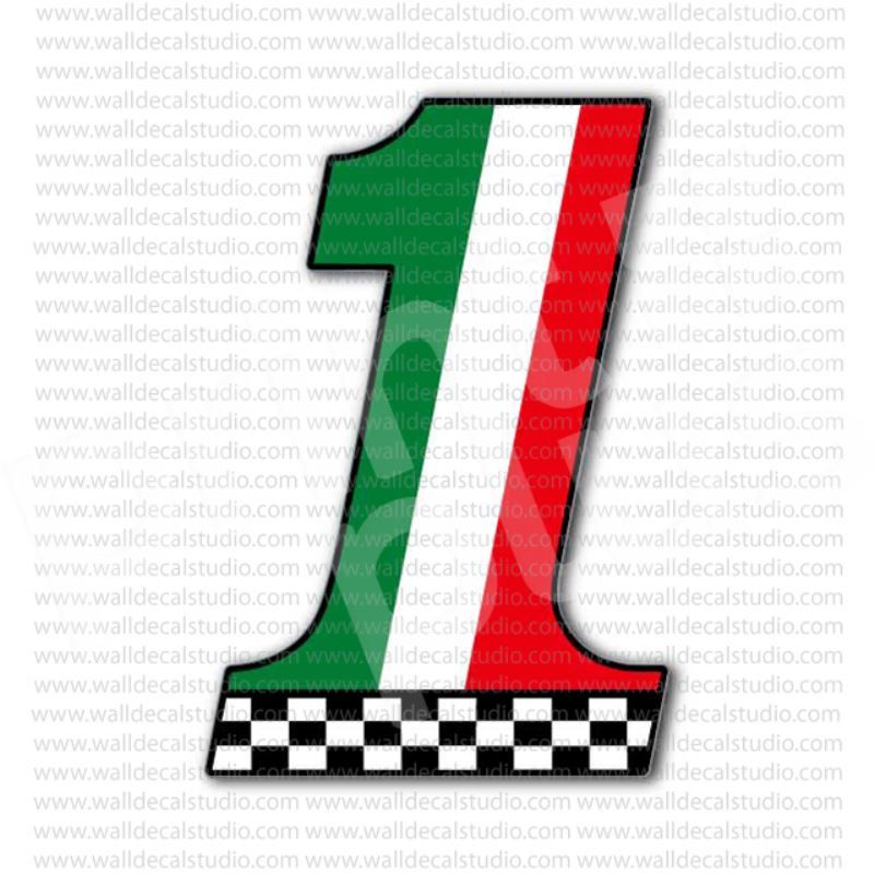 Italian Flag Number Racing Motorcycles Sticker Motorcycle - Stickers on motorcycles