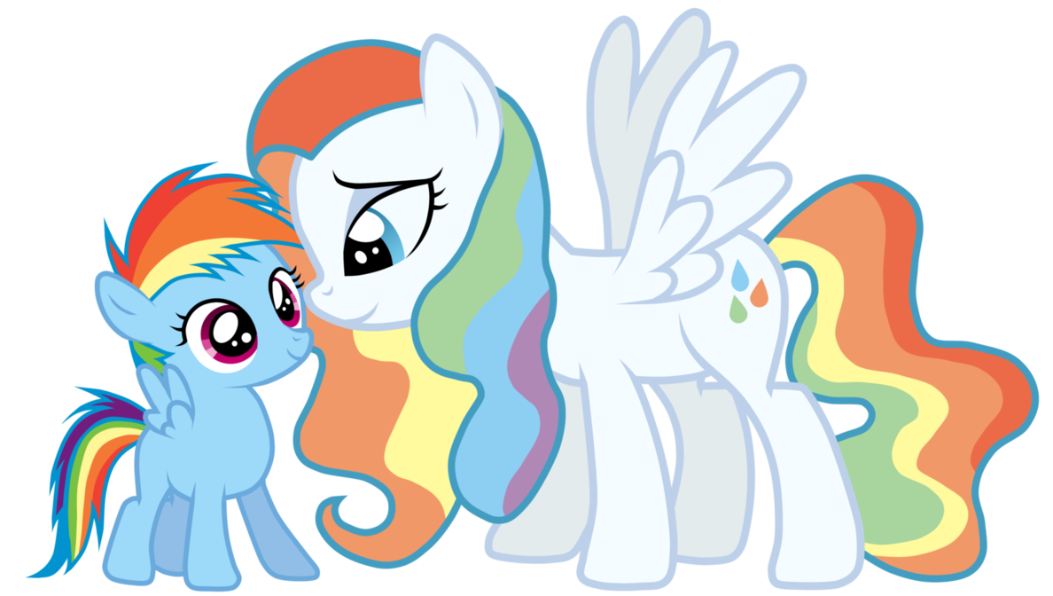 Rainbow Dash S Mother Little Pony My Lil Pony My Little Pony Baby