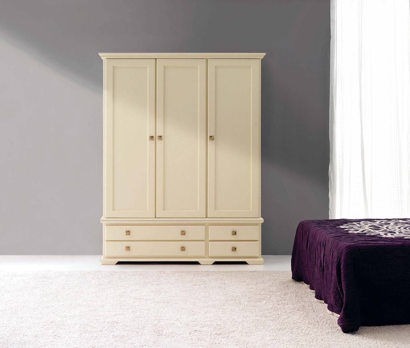 Armario ropero de 2 o 4 cajones y 2, 3 o 4 puertas | Closet | Pinterest