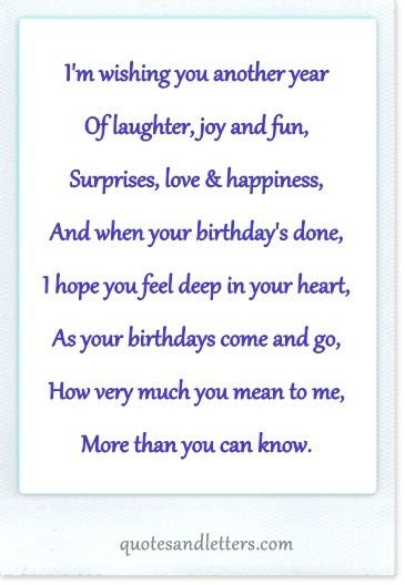 Birthday Quotes Birthday Card Sayings Birthday Verses For Cards Verses For Cards