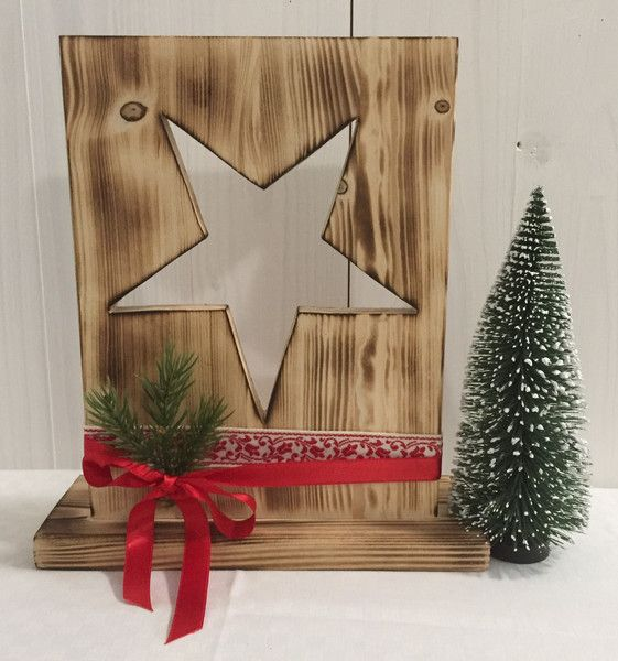Weihnachtsdeko - Weihnachten - Bauholz - Weihnachtsstern - geflammt - ein Designerstück von Hexerei bei DaWanda #weihnachtsdekoweihnachten