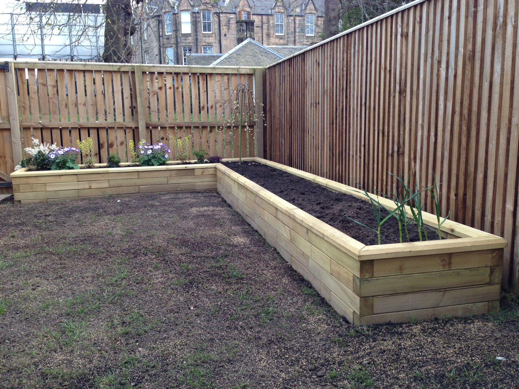 l shaped raised planter - L Shape Garden Decor