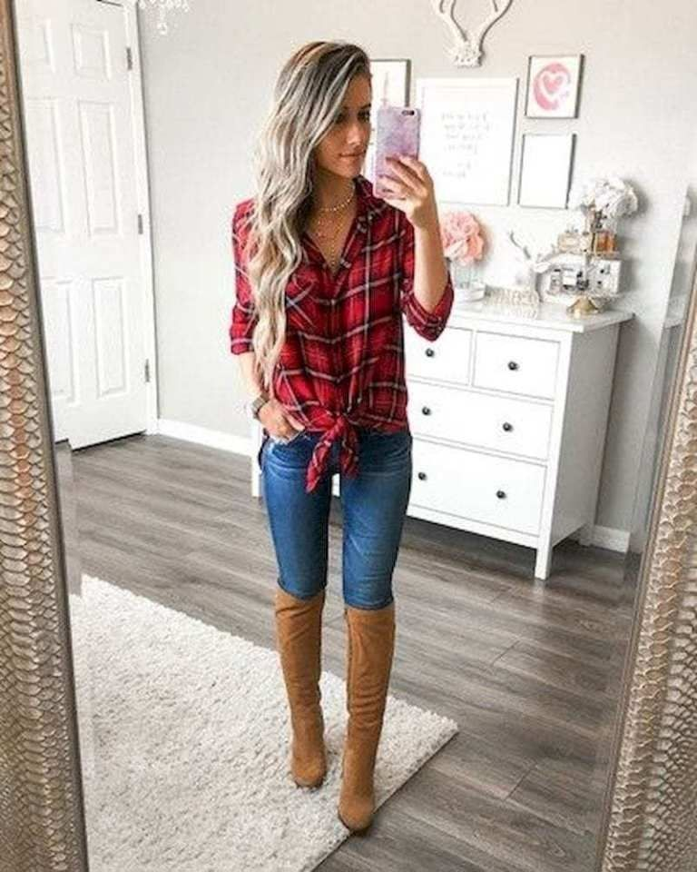 42 Amazing Women Fall Outfit Ideas With Denim Shirts To Try Right Now Amazing 42 Amazing Women Fall Outfit Ideas With Denim Shirts To Try Right Now