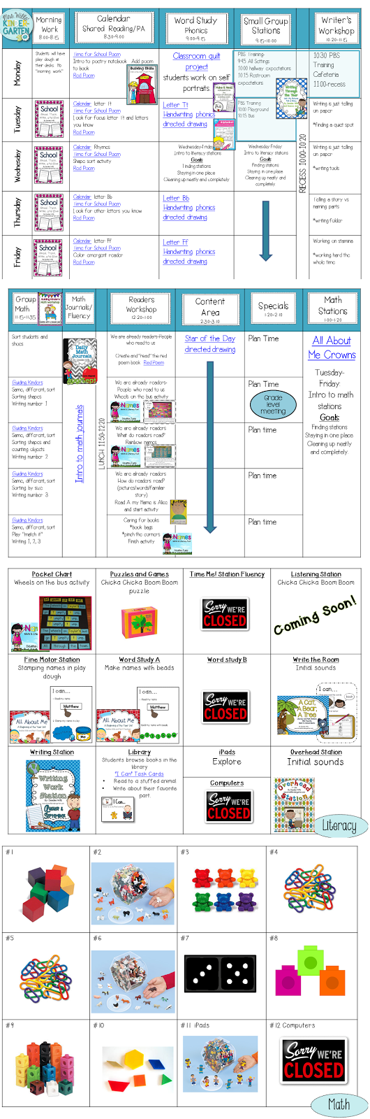 Kindergarten First Week Lesson Plans  Kindergarten School And