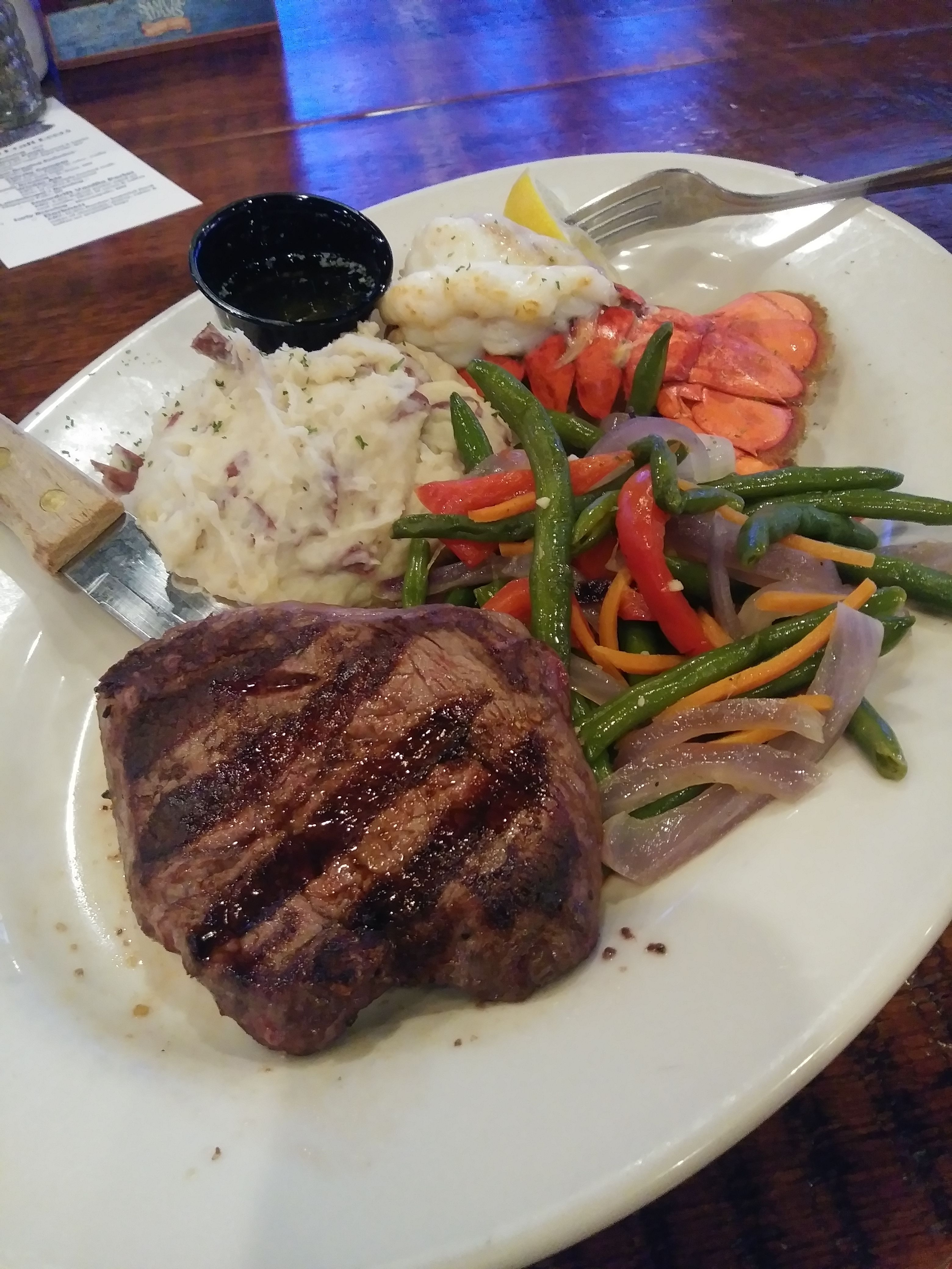 Tonight's special is a Steak and Lobster Dinner! #Food # ...