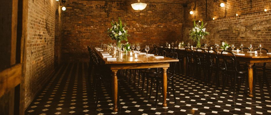 THE SCOOP: Multiple Venue Spaces At This Hotel Venue. We Especially Love  The Private Dining Room With Wood Tables ...