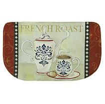 Printed Memory Foam Slice Kitchen Mat French Roast 18x30