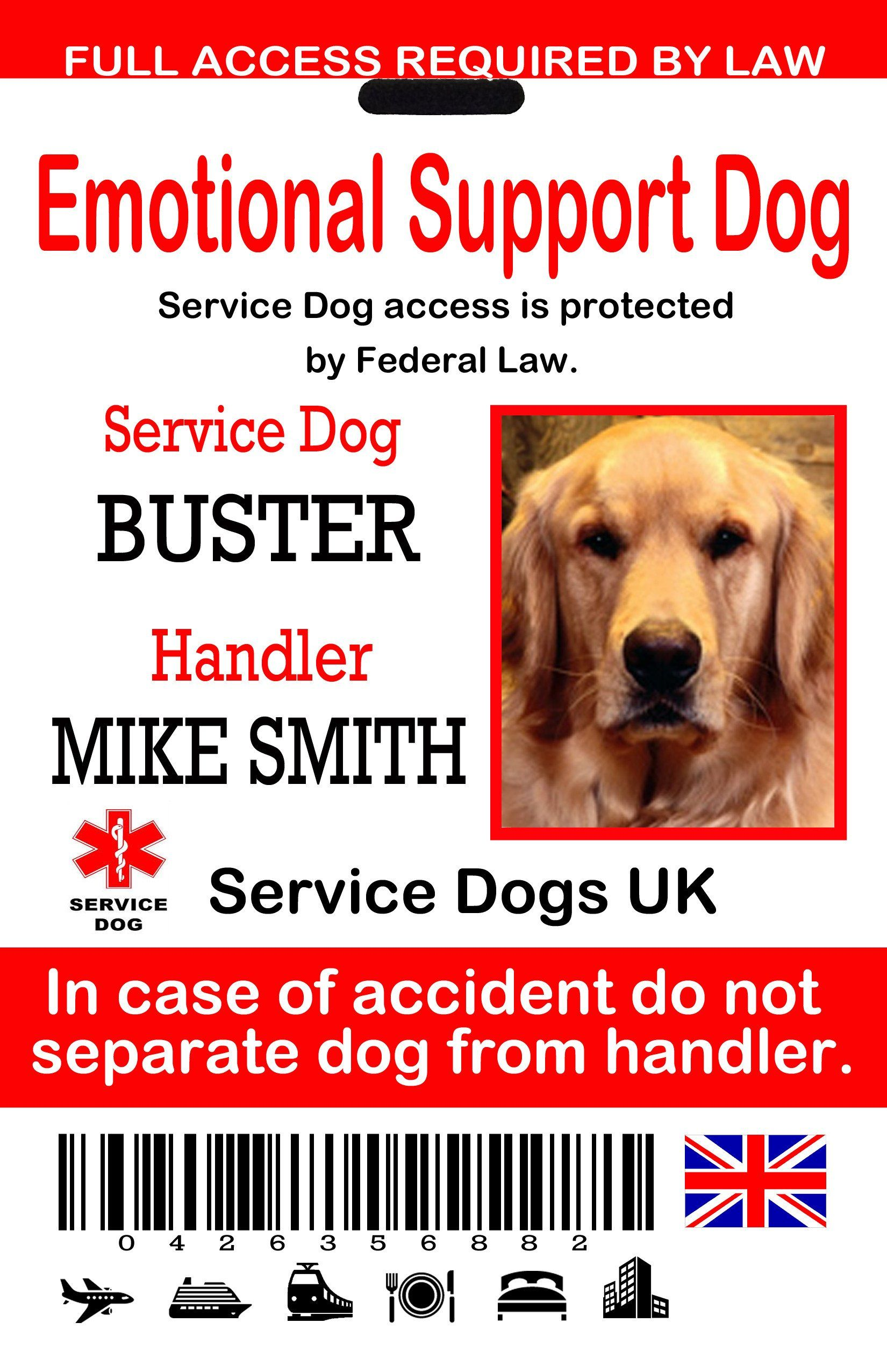 Service Dog Id Card Template Awesome Uk Service Dog Id Tags The Sewing Network Dog Identification Service Dogs Dog Id