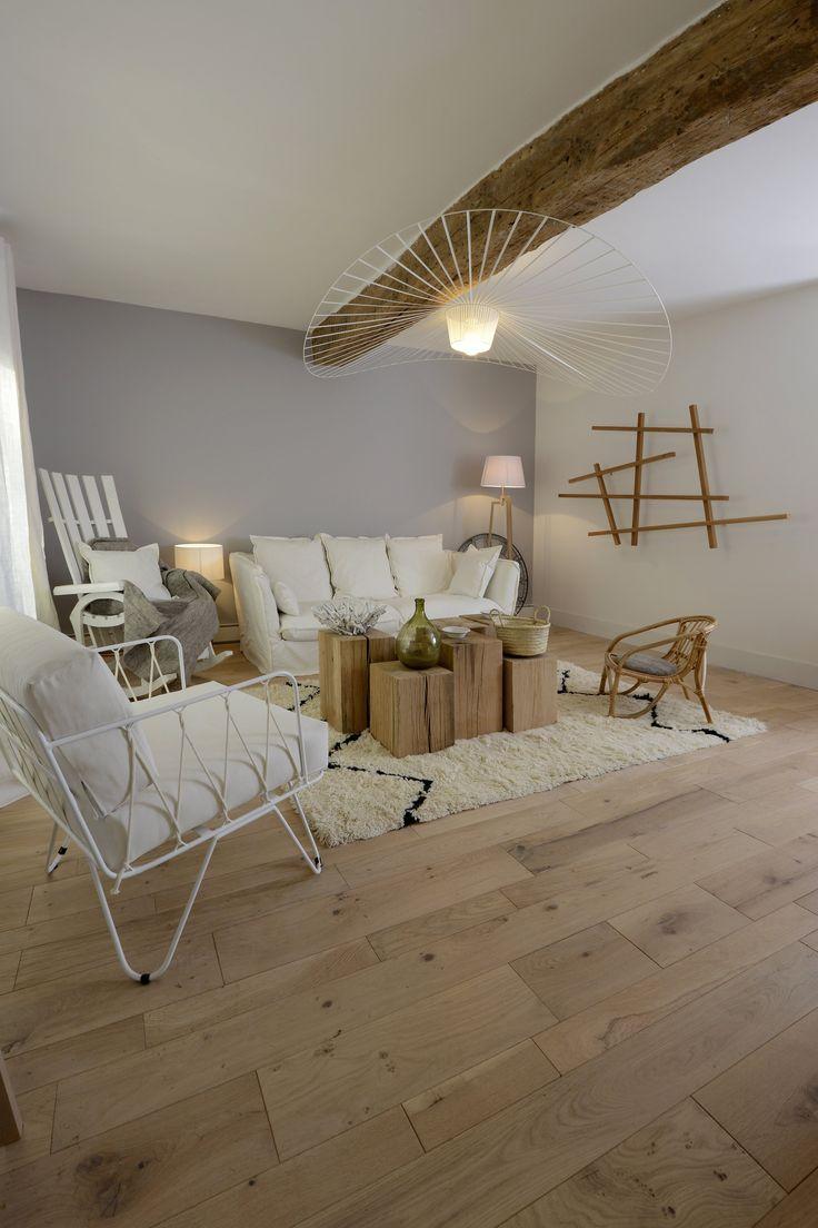 parquet en ch ne massif la fran aise ambiance cocooning. Black Bedroom Furniture Sets. Home Design Ideas