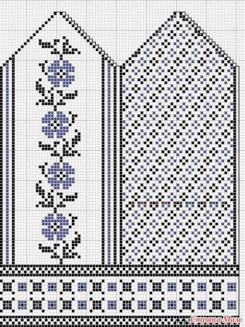 Beautiful knitted mittens pattern   dubbelstickning   Pinterest ...