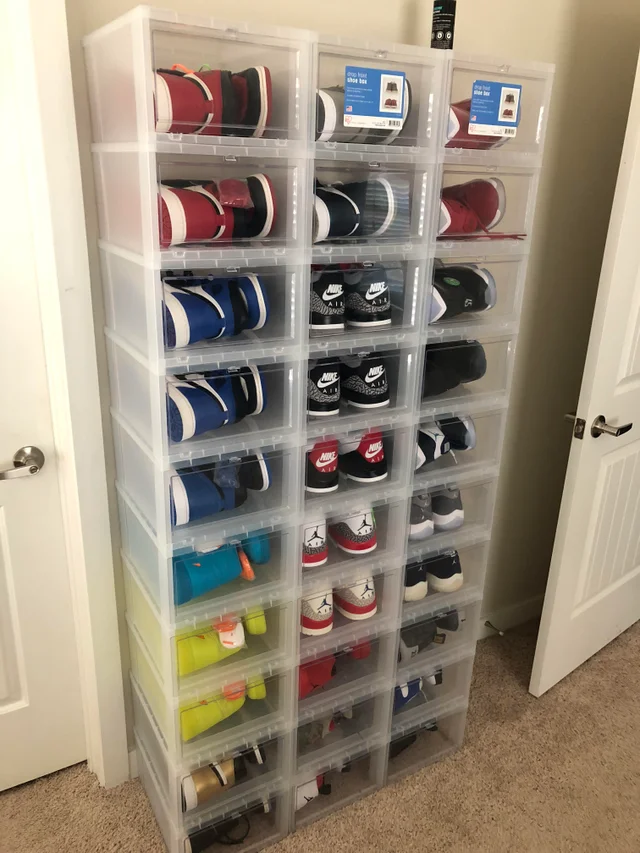 Container Store Shoe Boxes Sneakers In 2020 Shoe Store Shoe
