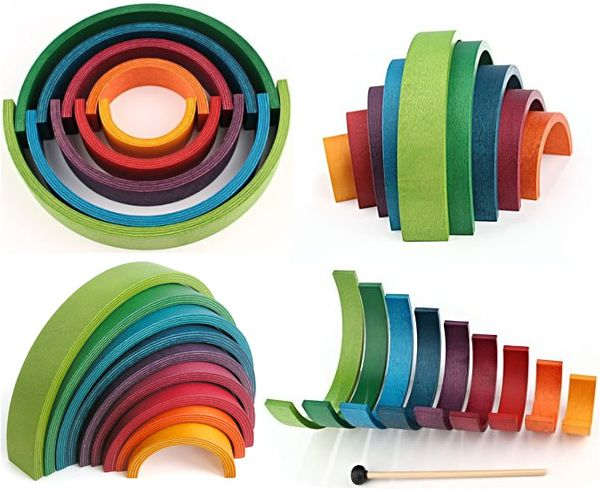 Rainbow by NAEF - wooden toys / Bateau Lune