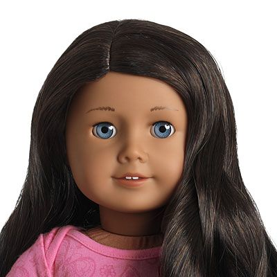 My American Girl Mag 49 Medium Skin Wavy Black Hair Blue Eyes