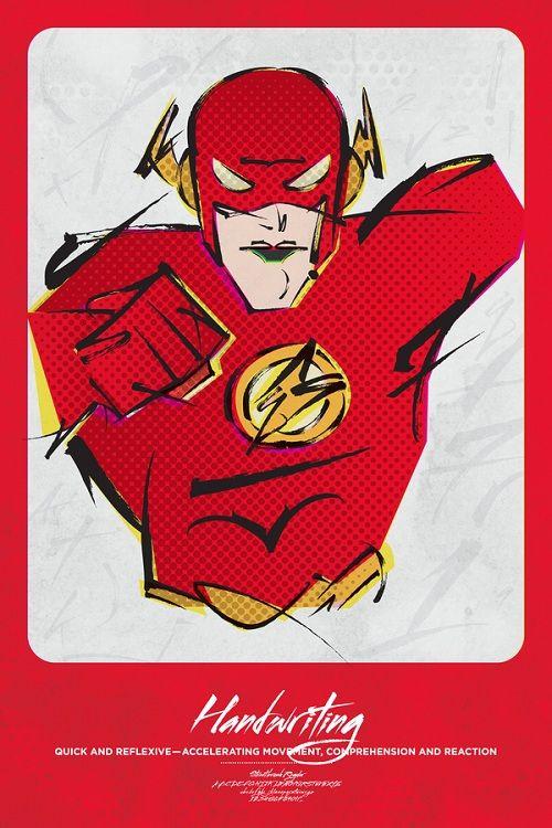 Typography & Superheroes: Flash