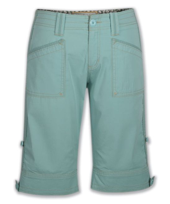 Aqua Haze Standard-Rise Arden Organic Cotton Shorts